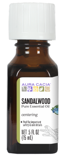 Aura Cacia Sandalwood Pure Essential Oil Perspective: front