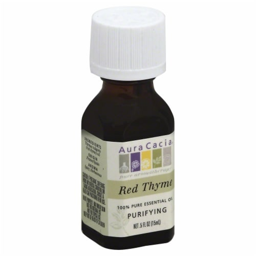 Aura Cacia Red Thyme Aroma Therapy Oil Perspective: front