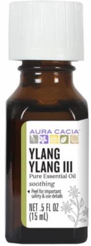 Aura Cacia Ylang Ylang III Oil Perspective: front