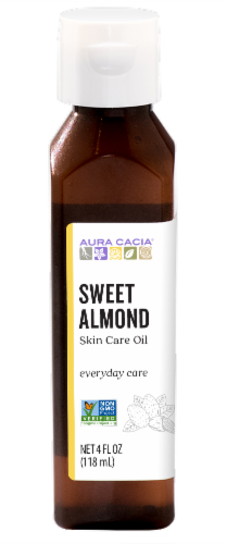 Aura Cacia Sweet Almond Skin Care Oil Perspective: front