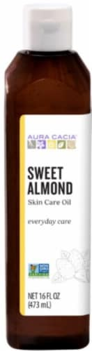 Aura Cacia Nurturing Sweet Almondy Skin Care Oil Perspective: front
