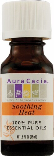 Aura Cacia Soothing Heat Pure Essential Oil Perspective: front