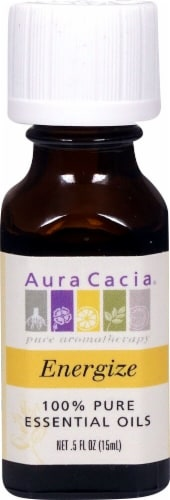 Aura Cacia Energize Pure Essential Oil Perspective: front