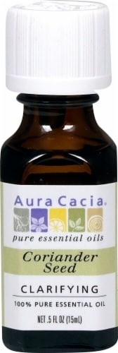 Aura Cacia Clarifying Coriander Pure Essential Oil Perspective: front