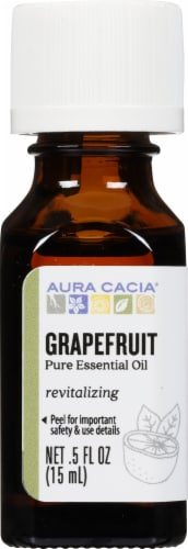 Aura Cacia Grapefruit Essential Oil Perspective: front