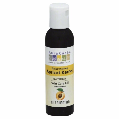 Aura Cacia Rejuvenating Apricot Kernel Skin Care Oil Perspective: front