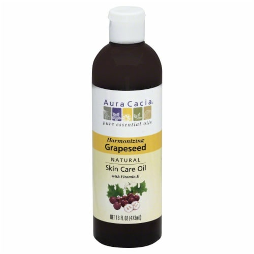 Aura Cacia Harmonizing Grapeseed Skin Care Oil Perspective: front