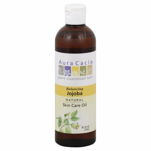 Aura Cacia Balancing Natural Jojoba Skin Care Oil Perspective: front