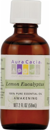 Aura Curia Lemon Eucalyptus Pure Essential Oil Perspective: front