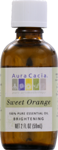 Aura Cacia Sweet Orange Essential Oil Perspective: front