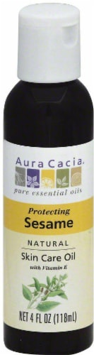 Aura Cacia Natural Protecting Sesame Skin Care Oil Perspective: front