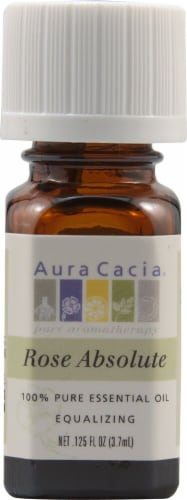Aura Cacia Absolute Rose Pure Essential Oil Perspective: front