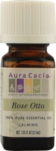 Aura Cacia Rose Otto Pure Essential Oil Perspective: front
