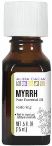 Aura Cacia Myrrh Essential Oil Perspective: front