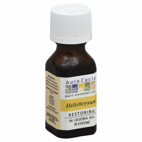 Aura Cacia Helichrysum with Jojoba Oil Perspective: front