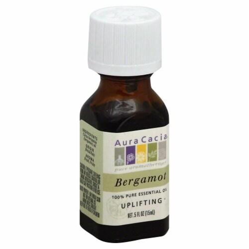 Aura Cacia Bergamot Uplifting Essential Oil Perspective: front