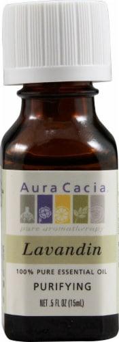Aura Cacia Lavandin Pure Essential Oil Perspective: front
