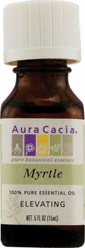 Aura Cacia Elevating Myrtle Pure Essential Oil Perspective: front