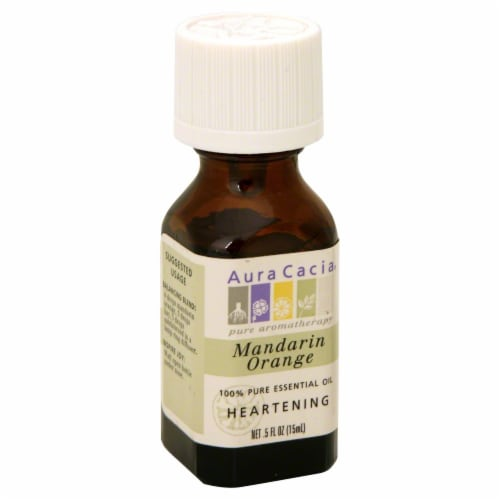 Aura Cacia Heartening Mandarin Orange Pure Essential Oil Perspective: front