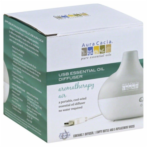 Aura Cacia USB Essential Oil Diffuser aromatherapy air Perspective: front
