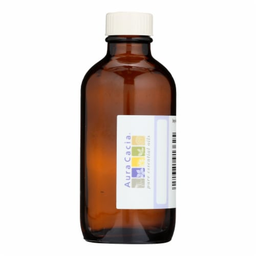 Aura Cacia - Bottle - Glass - Amber with Writable Label - 4 oz - Pack of 3 Perspective: front