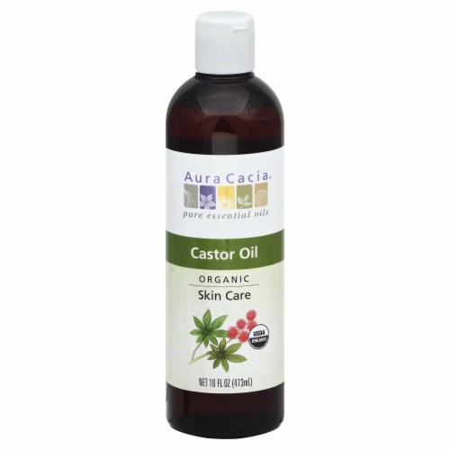 Aura Cacia Organic Castor Oil Skin Care Perspective: front