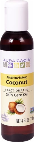 Aura Cacia Coconut Fractionated Skin Care Oil Perspective: front