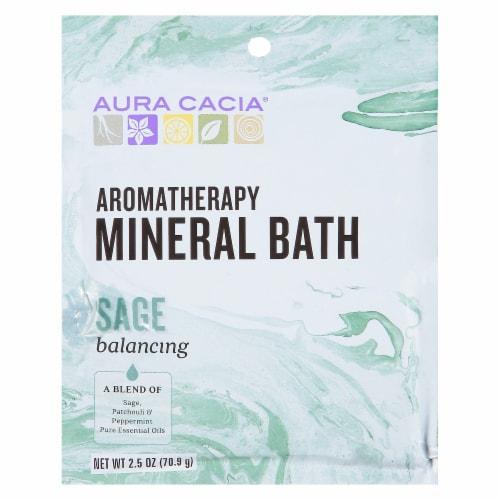 Aura Cacia Balancing Sage Purify Mineral Bath Perspective: front