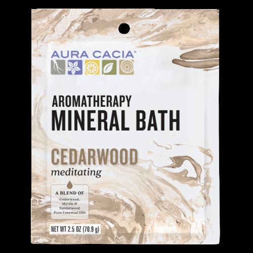 Aura Cacia Meditating Cedarwood Aromatherapy Mineral Bath Perspective: front