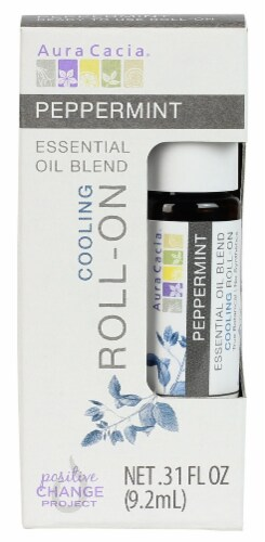 Aura Cacia Peppermint Essential Oil Roll On Perspective: front