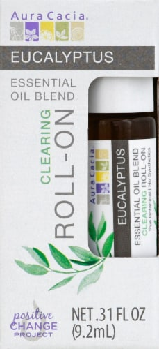 Aura Cacia Eucalyptus Essential Oil Roll-on Perspective: front
