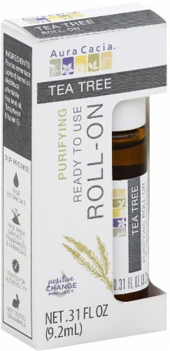 Aura Cacia Tea Tree Roll on Perspective: front