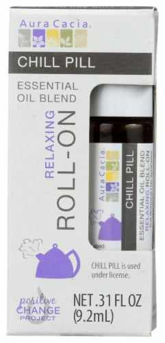 Aura Cacia Relaxing Chill Pill Essential Oil Blend Roll-On Perspective: front