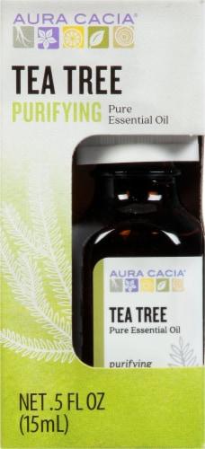 Aura Cacia Tea Tree Essential Oil Perspective: front
