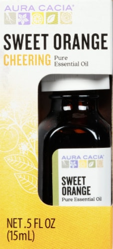 Aura Cacia Refreshing Essential Oil Perspective: front
