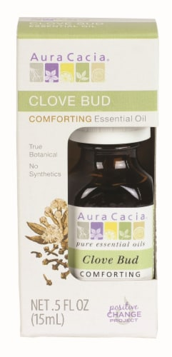 Aura Cacia Clove Bud Comforting Essential Oil Perspective: front