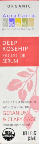 Aura Cacia Deep Rosehip Facial Oil Serum Perspective: front