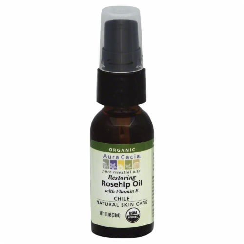 Aura Cacia Organic Rosehip Oil Perspective: front