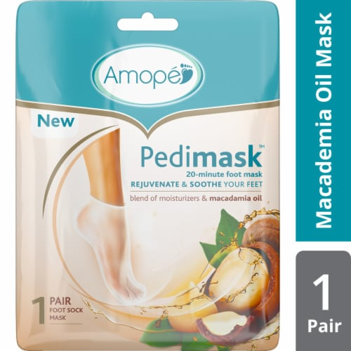 Amope Pedimask Macadamia Oil Foot Sock Mask Perspective: front
