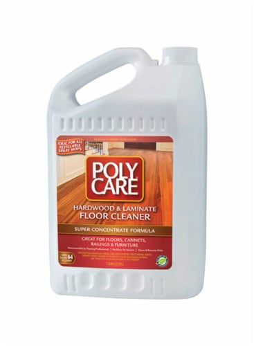 PolyCare  Fresh Scent Hardwood & Laminate Floor Cleaner  Liquid  1 gal. - Case Of: 4; Perspective: front