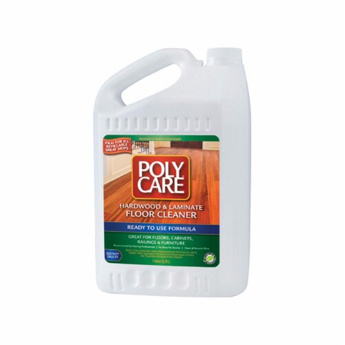 PolyCare  Fresh Scent Hardwood & Laminate Floor Cleaner  Liquid  1 gal. - Case Of: 1; Perspective: front
