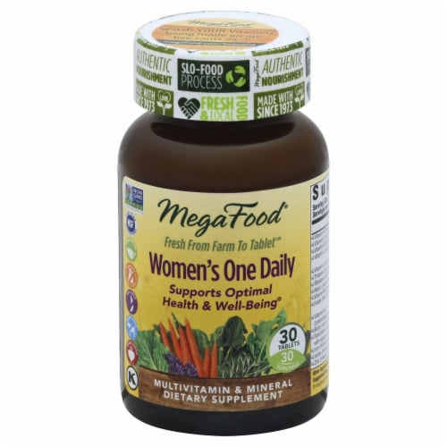 MegaFood Women's One Daily Multivitamin Tablets Perspective: front
