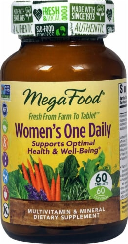 MegaFood Women's One Daily Tablets Perspective: front