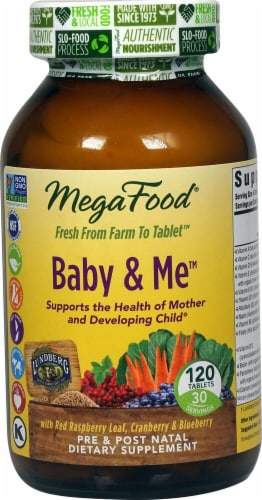 MegaFood  Baby and Me™ Pre & Post Natal Multivitamin Perspective: front