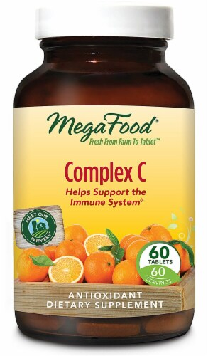 MegaFood Complex C Tablets Perspective: front