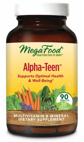 MegaFood  Alpha-Teen Tablets Perspective: front