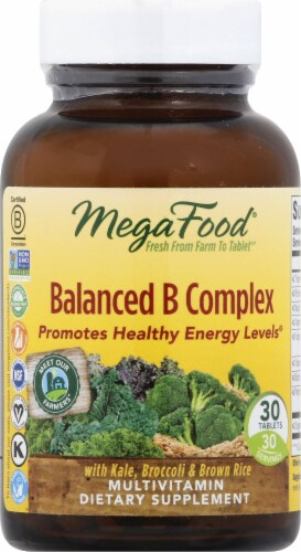 MegaFood Balanced B Complex Tablets Perspective: front