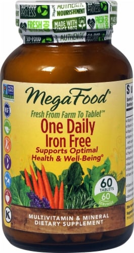 MegaFood  One Daily™ Iron Free Perspective: front