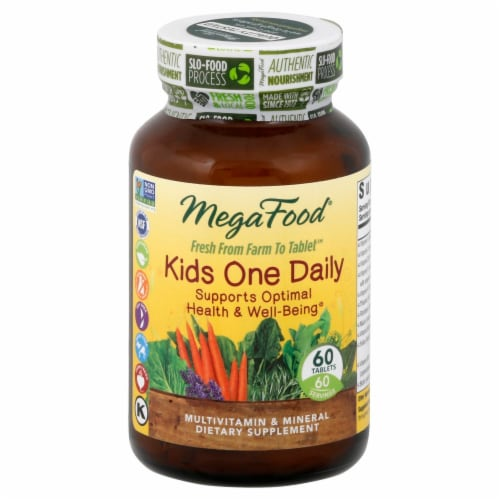 MegaFood Kids One Daily Multivitamin Tablets Perspective: front