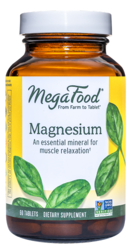 MegaFood Magnesium Tablets Perspective: front